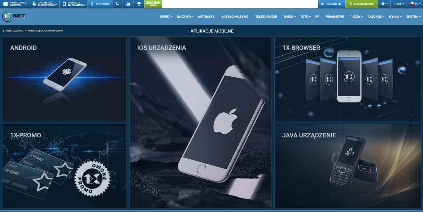 1xbet aplikacja w Polsce