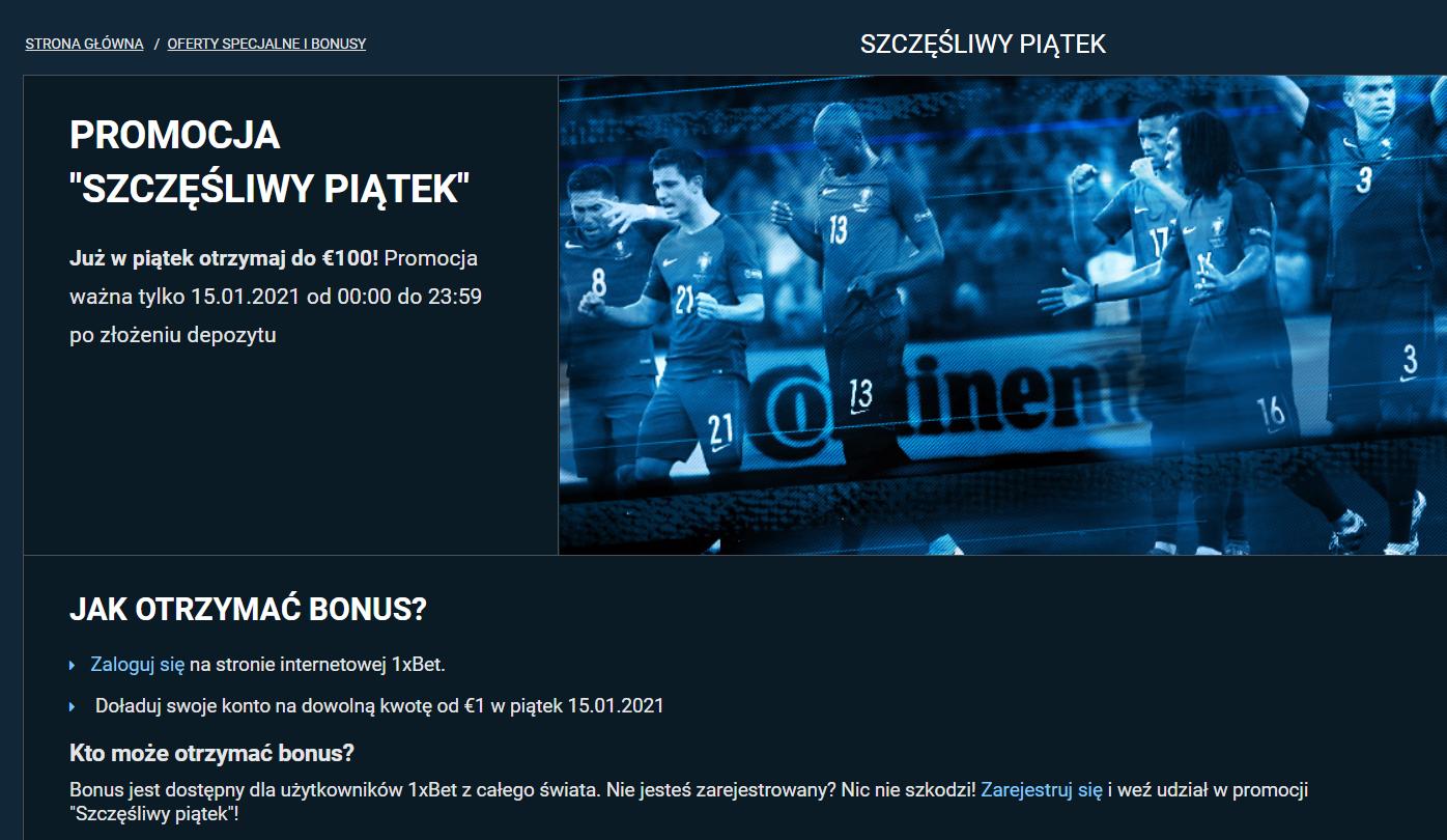 1xbet w Polsce - ekskluzywny url i bonus